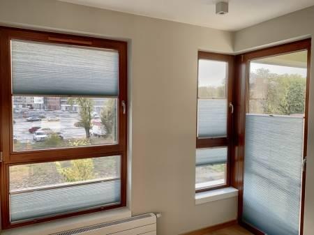 Wiśniowe okna i plastry miodu