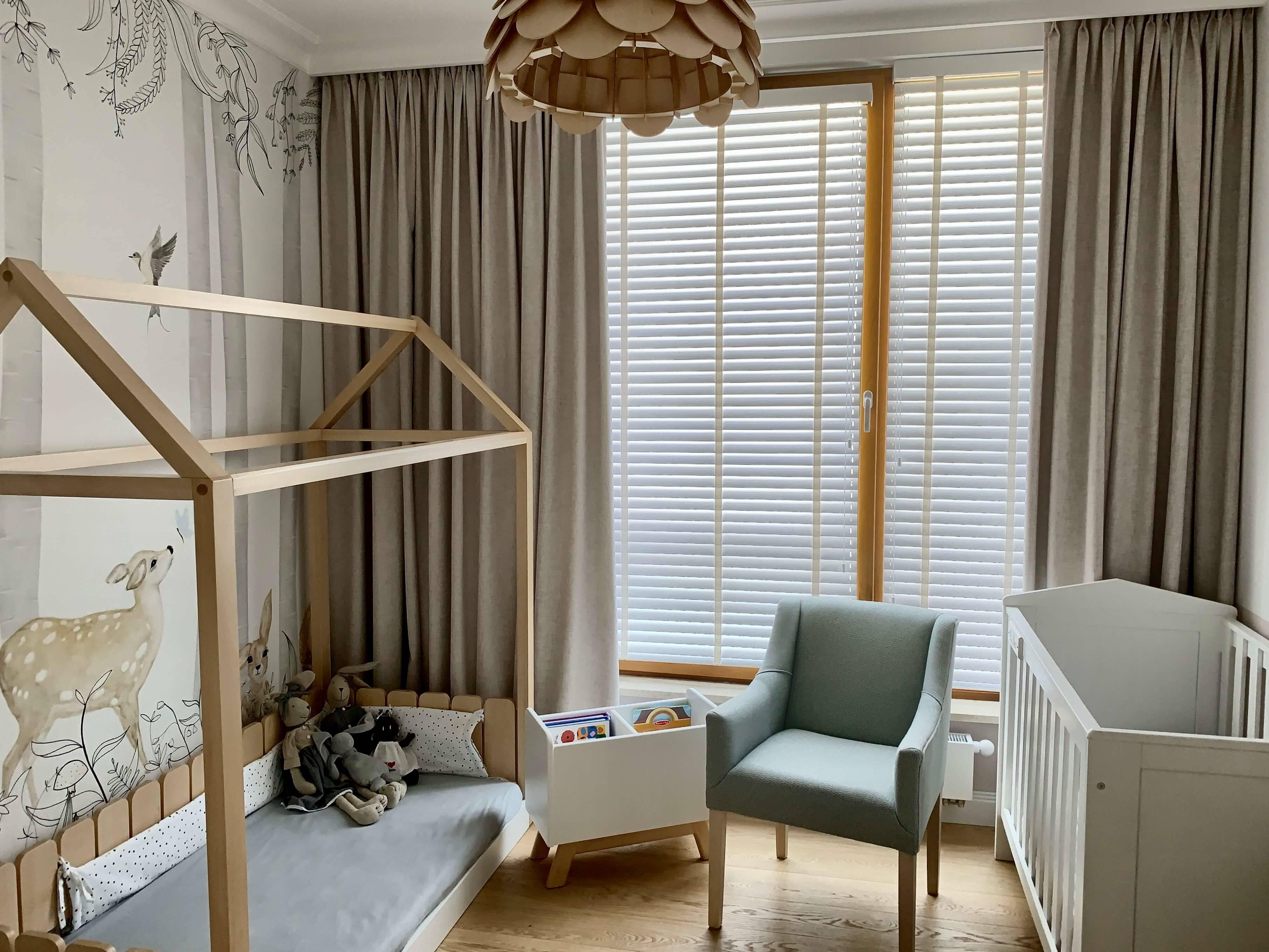 Sypialnia i pokój dziecka w stylu Hamptons